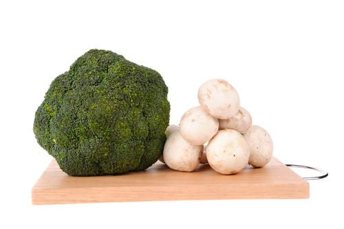 Brocolli-champignonsalade