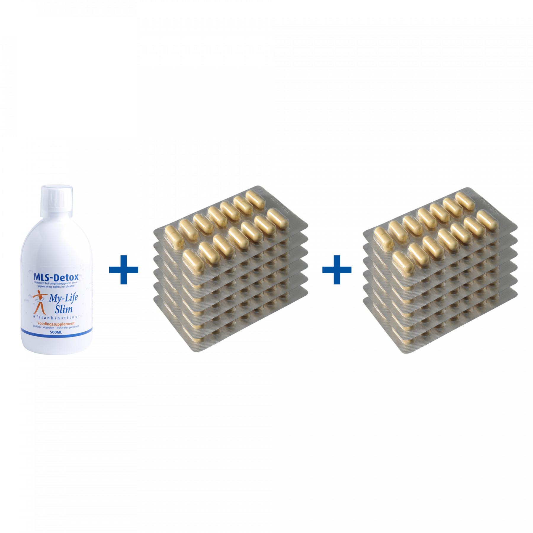Duurzaam-pakket BMI 30 of hoger, 12 strips Restore voor 4 weken, MLS-Detox