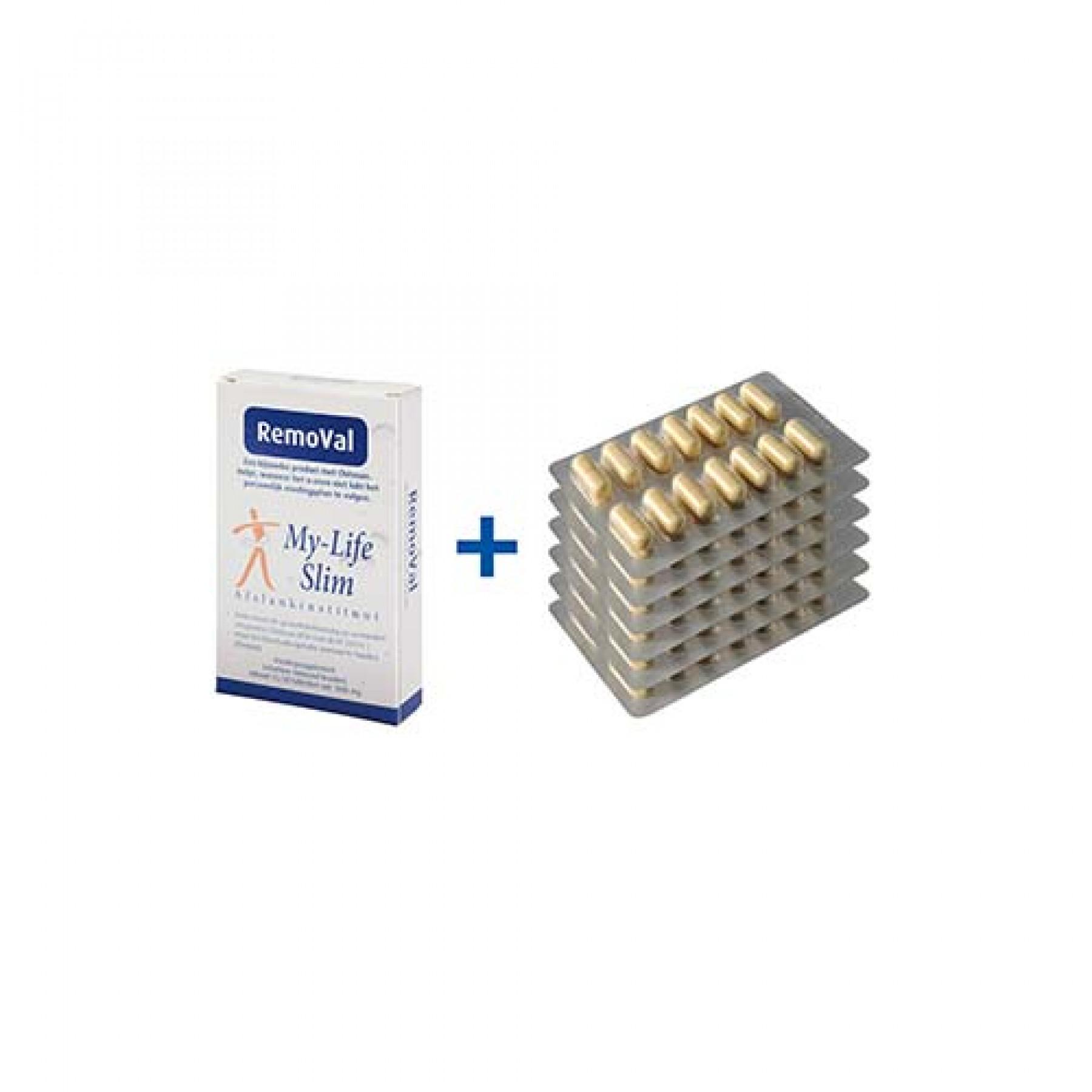 Homeset Plus BMI 30 of hoger, 6 strips Restore voor 2 weken, 15 tabletten RemoVal (smokkelpil)