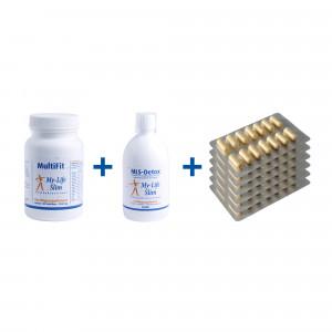Startpakket BMI 30 of hoger, 6 strips Restore voor 2 weken, MultiFit-Forte, MLS-Detox