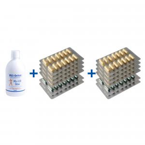 Duurzaam-pakket BMI 29 of lager, 8 strips Restore + 4 strips Psylium voor 4 weken, MLS-Detox